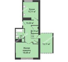 1 комнатная квартира 59,11 м² - ЖК Сергиевская Слобода