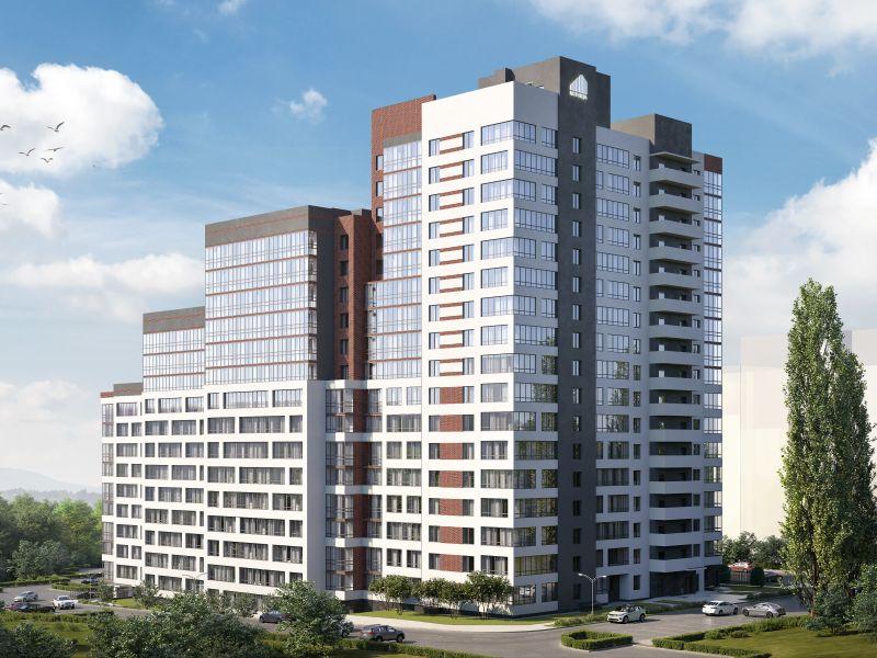 двухкомнатная квартира в новостройке на ул. Александра Хохлова, Многоквартирный дом 1