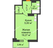 Студия 36,56 м² в ЖК Сокол на Оганова, дом Литер 6 - планировка