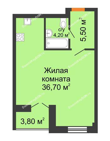 Студия 48,1 м² - ЖК Дом на 18-й Линии, 3