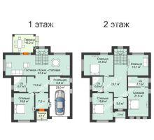 """6 комнатная квартира 271 м² в КП Ясная поляна, дом """"Гамбург"""" 271 м² - планировка"""