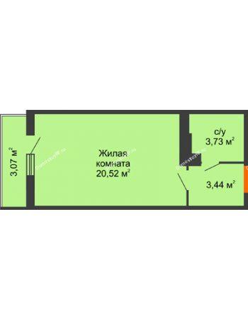 Студия 28,69 м² в ЖК Семейный парк, дом Литер 2