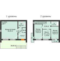 3 комнатный таунхаус 115 м² в Клубный посёлок Панорама, дом Гангутская, 2 (таунхаусы 115м2) - планировка