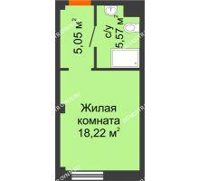 Студия 28,84 м², Апарт-Отель Гордеевка - планировка