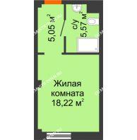 Апартаменты-студия 28,84 м², Апарт-Отель Гордеевка - планировка