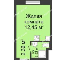 Студия 17,33 м² в ЖК Мончегория, дом № 4 - планировка