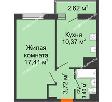 1 комнатная квартира 37,52 м² - ЖК Комарово