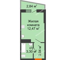 1 комнатная квартира 20,26 м² в ЖК Волна, дом 2 очередь (секция 4) - планировка
