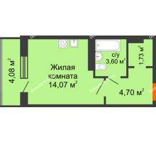 Студия 26,14 м², ЖК 9 Ярдов - планировка