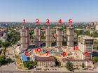 Ход строительства дома Литер 1 в ЖК Звезда Столицы - фото 12, Июль 2020