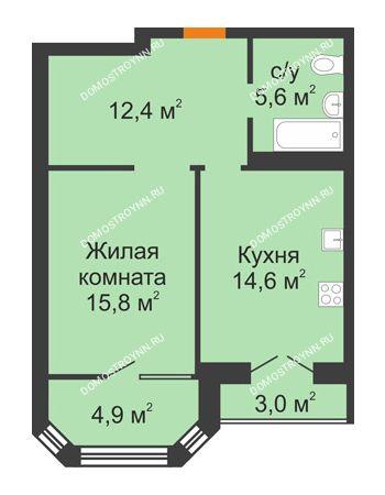1 комнатная квартира 54,2 м² - ЖК Симфония Нижнего