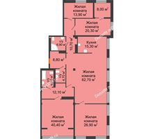 5 комнатная квартира 236,7 м², ЖК Богатяновский - планировка