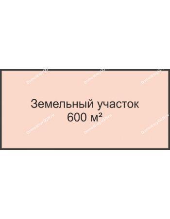 Студия 600 м² в КП Ольгинский, дом Участок 600 м²